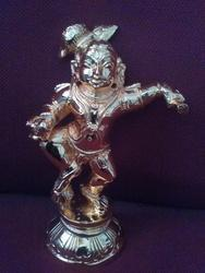 Gold Plated Lord Krishna 5  Inches