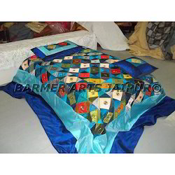 Designer Bed Sheets Silk Mixtukdi Patchwork