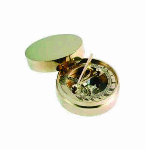Golden Color Antique Paper Weight Nautical Compass, Size/diameter: 3