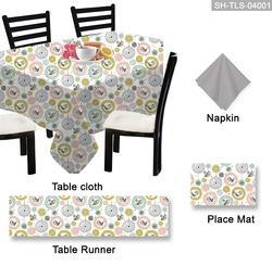 Attractive Printed Table Cloth Set