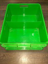 Green Rectangular Plastic Milk Crate