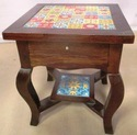 Wooden Center Table With Drawer