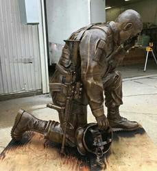Army Clay Statue