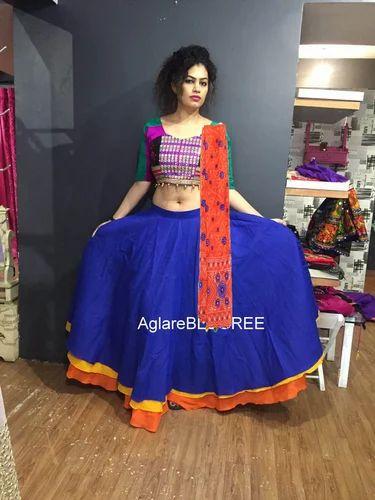 561483309 Kutch Work Handmade Gujarati Lehenga at Rs 1200 /piece | Bodakdev ...