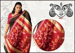Fabulous Matka Silk Jamdani Pallu Saree