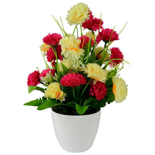 artificial flower pot, fake flower, kritim phool - the fancy mart