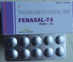 Aceclofenac 100 mg With Thiocolchicoside 4 mg Tablets