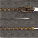 Brown Metal Zipper