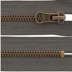 Brown Metal Zipper