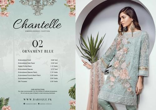 a52e99e79ba8c Baroque Chantelle Chiffon Suits, Rs 6000 /piece, Panaacheindians ...