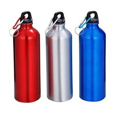 Oem Alluminium Carabiner Sports Water Bottle, For Office