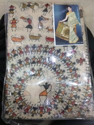 Casual Wear Printed Designer Cotton Saree, 6 m (with blouse piece)