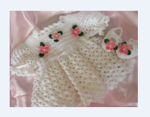 eb928813a Woolen Baby Frocks - Crochet White Baby Frock Manufacturer from Sonipat