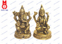 Lord Laxmi & Ganesh Sitting On RD. Base Statue