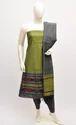 Trendy Dhaman Silver Zari Dress Material