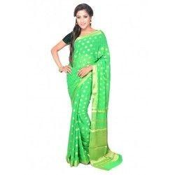Ladies Chiffon Green Saree
