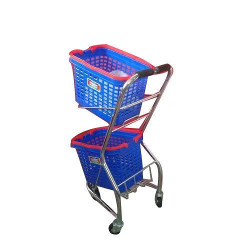 Plastic Bucket Shopping Trolley