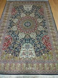 Silk On Cotton Carpets, Size: 6x9