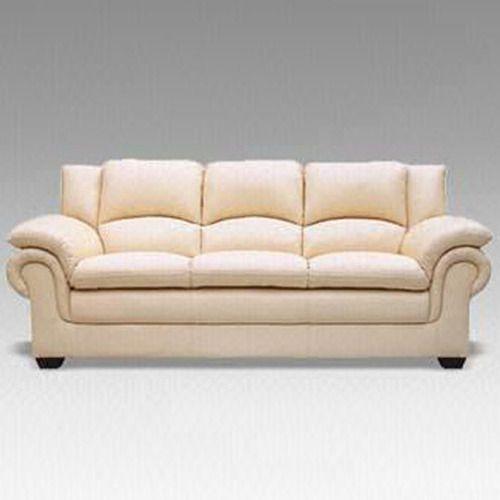 White Leather Modular Sofa