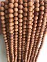 Yellow Dark Sandalwood Mala Bracelet Sandalwood Beads, Shape: Round
