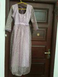 Designer Netted Lavender Dress