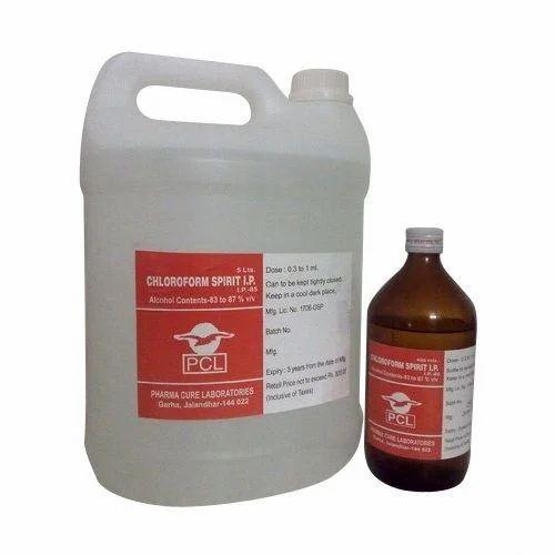 Liquid Bio-Tech Grade Chloroform Spirit, 5 L, Packaging Type: Plastic Can
