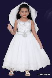 White Kids Long Gown
