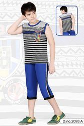 Boys Fancy Sleeveless Capri Set