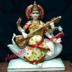 Goddess Maa Saraswati Marble Statue