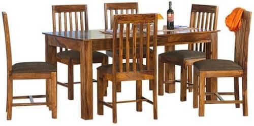 fa64c8bd9b0f Sheesham Wood Dining Table 6 Seater, Dining Room Furniture - Santosh ...