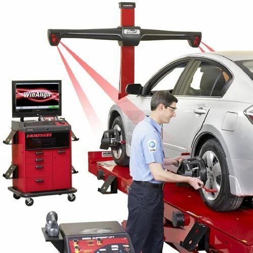 Red Hunter Hawkeye 3d Wheel Alignment Machine Rs 400000 Piece Id