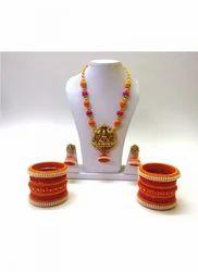 Women Party Wear And Regular Wear Fashion Silkthread Necklace