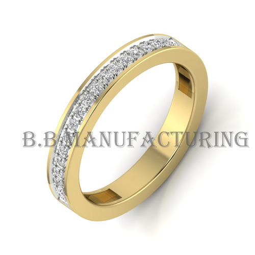 27aed1d01b580 Band Ring 14k Yellow Gold Diamond Wedding Ring
