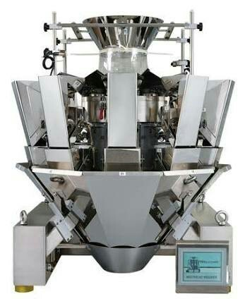 Silver Stainless Steel Miltihead 10 Head Weigher. ( Weighing System )