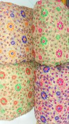 Net Multi Colour Embroidery Fabric