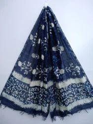 Dabu Printed Silk Dupatta