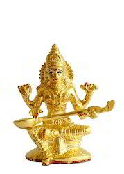 Saraswati Statue - Gold