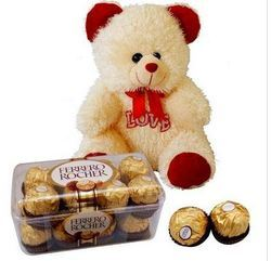 Teddy Bear And Chocolates Gift Pack