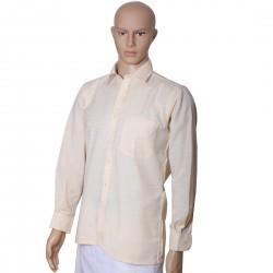 Beige Color Khadi Full Sleeve Shirt