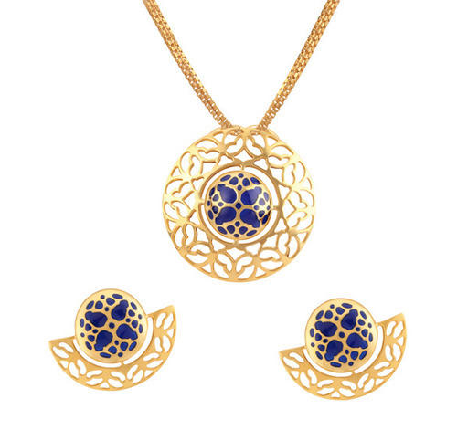 Gold pendant set at rs 45640 jewellery the tanishq showroom gold pendant set aloadofball Image collections