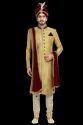 Classic Beige Royal Wedding Sherwani