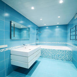 For Wall Bathroom Glass Mosaic Tiles, Thickness: 4 mm and 8 mm