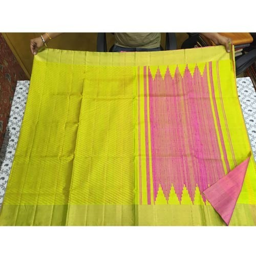Wedding Wear Printed Dupion Silks Sarees, 6 m (with blouse piece)