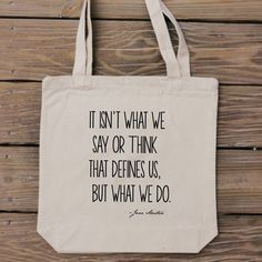 Cotton Canvas Bags With Quotes