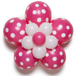 Flower Shaped Latex Balloons