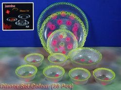 Glass Dinner Set - Colour Sets