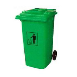 Green Two Wheel Dustbin Container