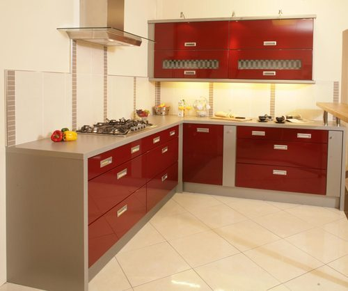 L Shaped Modular Kitchen