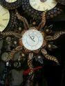 Sun Wooden Clock