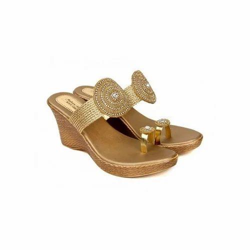 18a743c5d Ladies Wedge Heel Slipper, Ladies Flip Flop, Women Flip Flop, Women ...